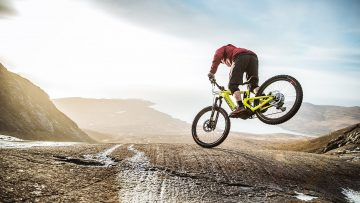 Danny Macaskill rides impossible rock face on Santa Cruz eBike.